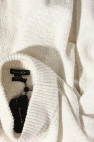 Γυναικείο πουλόβερ Massimo Dutti, Μέγεθος S, Χρώμα Εκρού, 37% πολυαμίδη, 26% μαλλί, 22% βισκόζη, 11%ακρυλικό, 3% κασμίρι, Τιμή 21,47€
