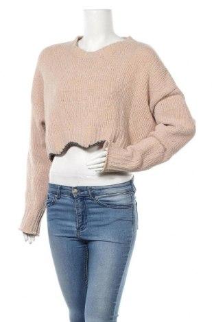 Γυναικείο πουλόβερ Zara Knitwear, Μέγεθος M, Χρώμα  Μπέζ, 67% πολυαμίδη, 12%ακρυλικό, 11% πολυεστέρας, 10% μεταλλικά νήματα, Τιμή 22,27€