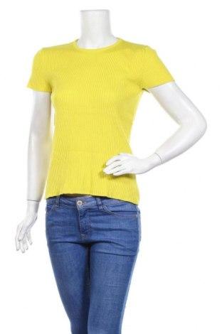 Γυναικείο πουλόβερ Zara Knitwear, Μέγεθος M, Χρώμα Κίτρινο, 72% βισκόζη, 28% πολυαμίδη, Τιμή 12,47€