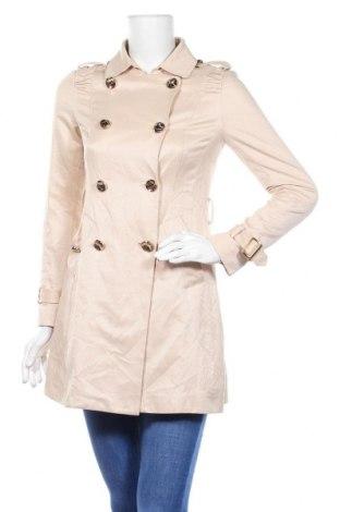 Дамски шлифер, Размер M, Цвят Бежов, 51% полиестер, 49% памук, Цена 36,75лв.