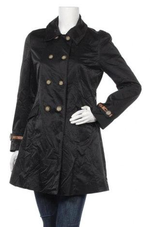 Дамски шлифер Cynthia Rowley, Размер M, Цвят Черен, 67% памук, 30% полиамид, 3% еластан, Цена 63,84лв.