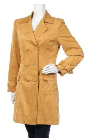 Дамски шлифер Duo, Размер M, Цвят Жълт, 98% полиестер, 2% еластан, Цена 15,15лв.