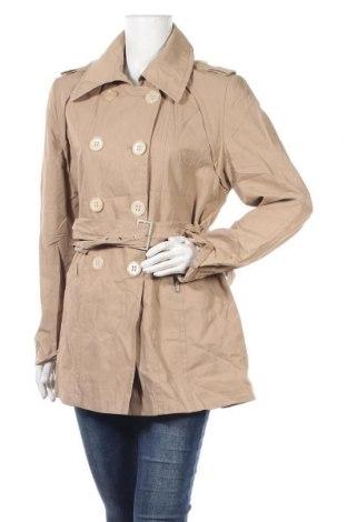 Дамски шлифер Erich Fend, Размер L, Цвят Бежов, 48% памук, 47% полиамид, 5% метални нишки, Цена 19,95лв.