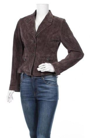 Дамско кожено сако Joy, Размер M, Цвят Кафяв, Естествен велур, Цена 38,12лв.
