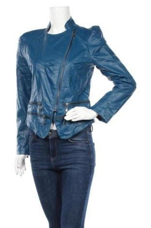 Дамско кожено яке, Размер L, Цвят Син, Еко кожа, Цена 39,90лв.