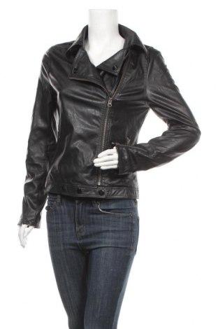Дамско кожено яке, Размер S, Цвят Черен, Еко кожа, Цена 32,55лв.