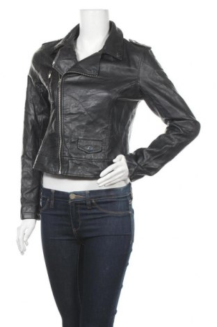 Дамско кожено яке Atmosphere, Размер M, Цвят Черен, Еко кожа, Цена 33,20лв.