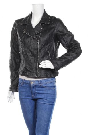 Γυναικείο δερμάτινο μπουφάν Bar III, Μέγεθος XL, Χρώμα Μαύρο, Δερματίνη, Τιμή 18,51€