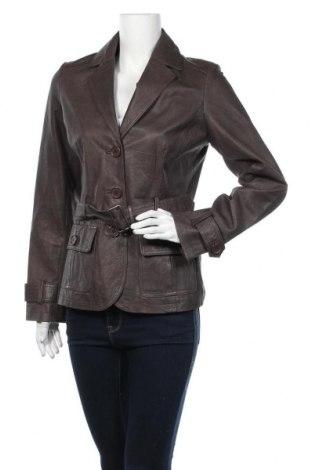 Дамско кожено яке Bik Bok, Размер M, Цвят Кафяв, Естествена кожа, Цена 26,49лв.