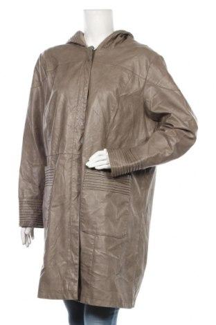 Γυναικείο δερμάτινο μπουφάν Charles Vogele, Μέγεθος XL, Χρώμα Καφέ, Δερματίνη, Τιμή 18,51€