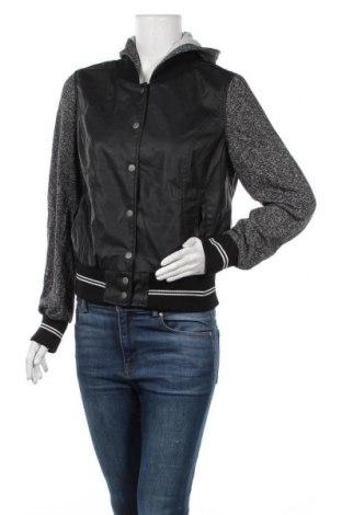 Дамско кожено яке Charlotte Russe, Размер XL, Цвят Черен, Еко кожа, вискоза, Цена 24,57лв.