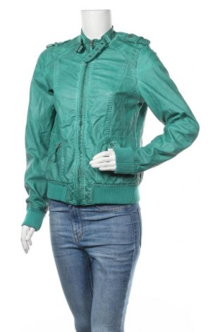 Дамско кожено яке Colours Of The World, Размер M, Цвят Зелен, Еко кожа, Цена 19,06лв.