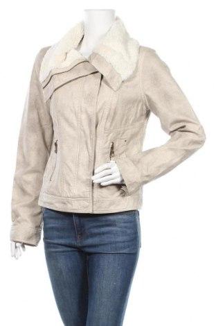 Дамско кожено яке Colours Of The World, Размер L, Цвят Бежов, Еко кожа, Цена 29,35лв.