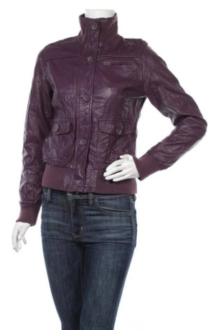 Γυναικείο δερμάτινο μπουφάν Colours Of The World, Μέγεθος M, Χρώμα Βιολετί, Δερματίνη, Τιμή 12,34€