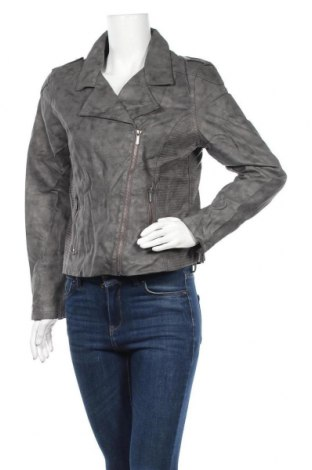 Дамско кожено яке Gina, Размер XL, Цвят Сив, Еко кожа, Цена 44,10лв.