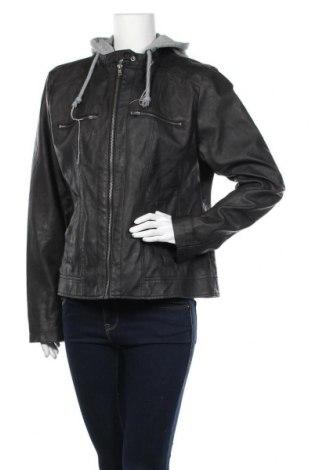 Γυναικείο δερμάτινο μπουφάν Gina, Μέγεθος XL, Χρώμα Μαύρο, Δερματίνη, Τιμή 21,04€