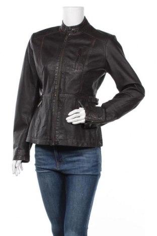 Дамско кожено яке H&M L.O.G.G., Размер M, Цвят Кафяв, Естествена кожа, Цена 60,74лв.