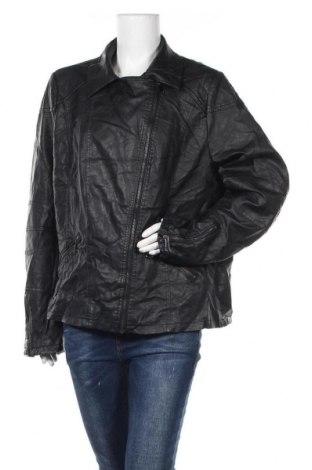 Дамско кожено яке Janina, Размер XXL, Цвят Черен, Еко кожа, Цена 33,86лв.
