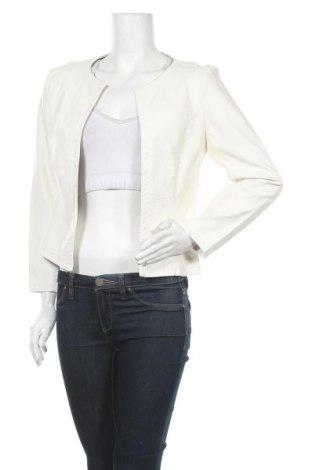 Γυναικείο δερμάτινο μπουφάν Made In Italy, Μέγεθος L, Χρώμα Λευκό, Δερματίνη, Τιμή 14,29€