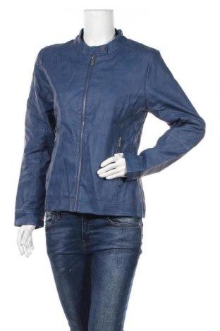 Γυναικείο δερμάτινο μπουφάν Multiblu, Μέγεθος M, Χρώμα Μπλέ, Δερματίνη, Τιμή 20,95€