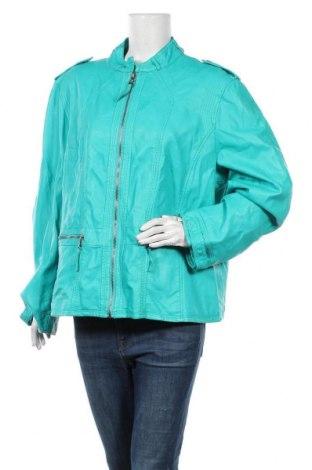 Дамско кожено яке Nana Belle, Размер 3XL, Цвят Зелен, Еко кожа, Цена 30,45лв.