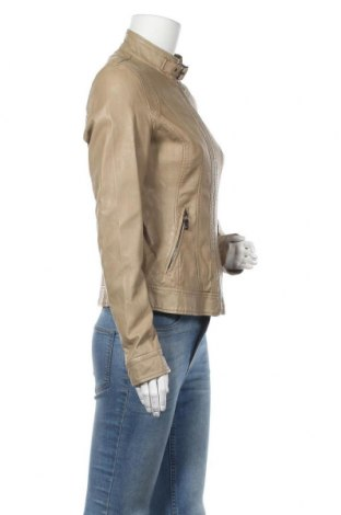 Дамско кожено яке New Age, Размер L, Цвят Бежов, Еко кожа, Цена 29,93лв.