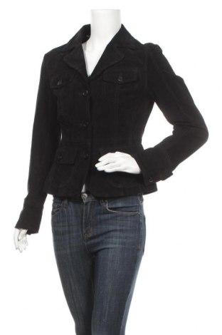 Дамско кожено яке Nkd, Размер S, Цвят Черен, Естествен велур, Цена 27,22лв.