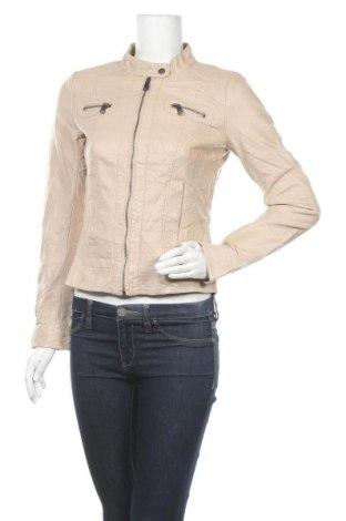 Γυναικείο δερμάτινο μπουφάν ONLY, Μέγεθος S, Χρώμα  Μπέζ, Δερματίνη, Τιμή 22,64€
