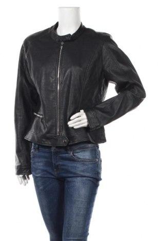 Γυναικείο δερμάτινο μπουφάν Pimkie, Μέγεθος XL, Χρώμα Μαύρο, Δερματίνη, Τιμή 20,98€