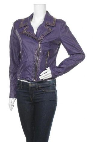 Γυναικείο δερμάτινο μπουφάν Rinascimento, Μέγεθος XL, Χρώμα Βιολετί, Δερματίνη, Τιμή 115,59€