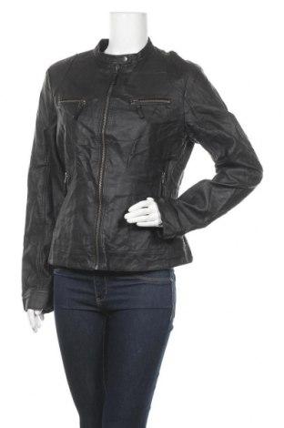 Γυναικείο δερμάτινο μπουφάν S.Oliver, Μέγεθος L, Χρώμα Μαύρο, Δερματίνη, Τιμή 27,05€