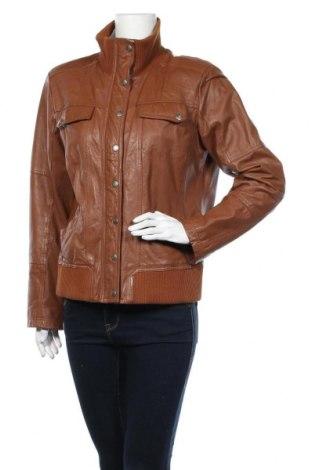 Дамско кожено яке Street One, Размер L, Цвят Кафяв, Естествена кожа, Цена 29,14лв.