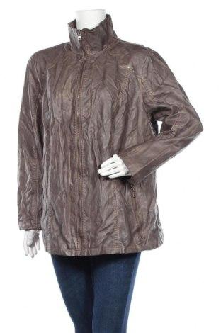 Дамско кожено яке Thea, Размер XXL, Цвят Кафяв, Еко кожа, Цена 19,74лв.