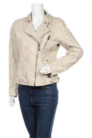 Γυναικείο δερμάτινο μπουφάν Up 2 Fashion, Μέγεθος M, Χρώμα  Μπέζ, Δερματίνη, Τιμή 14,65€