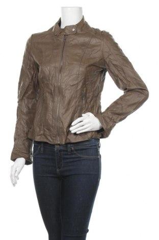 Γυναικείο δερμάτινο μπουφάν Up 2 Fashion, Μέγεθος S, Χρώμα Καφέ, Δερματίνη, Τιμή 9,78€
