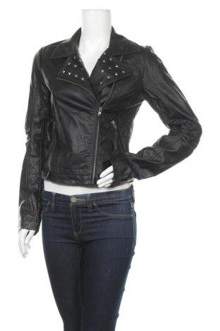 Дамско кожено яке Vero Moda, Размер M, Цвят Черен, Еко кожа, Цена 37,80лв.