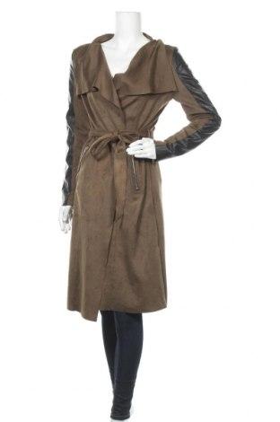 Дамско палто, Размер M, Цвят Зелен, Текстил, еко кожа, Цена 18,90лв.