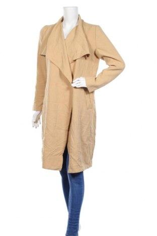 Дамско палто Serra, Размер M, Цвят Бежов, Полиестер, вискоза, еластан, Цена 15,71лв.