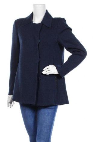 Дамско палто Silvian Heach, Размер M, Цвят Син, 60% акрил, 40% вълна, Цена 49,20лв.