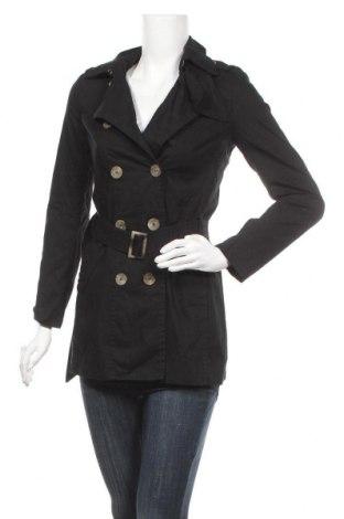 Дамско палто United Colors Of Benetton, Размер XS, Цвят Черен, Памук, Цена 21,74лв.