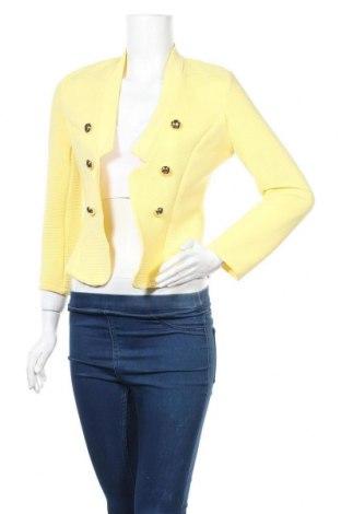 Дамско сако, Размер M, Цвят Жълт, 93% полиестер, 7% еластан, Цена 19,79лв.