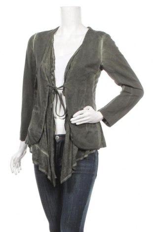 Дамска жилетка, Размер S, Цвят Зелен, 95% памук, 5% еластан, Цена 8,19лв.
