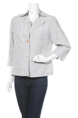 Дамско сако Marc Aurel, Размер L, Цвят Сив, 69% лен, 31% памук, Цена 28,56лв.