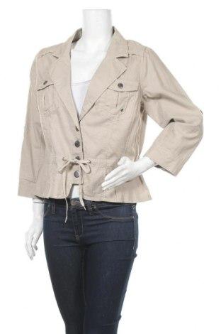 Дамско сако Ms Mode, Размер M, Цвят Бежов, 55% лен, 45% памук, Цена 5,51лв.