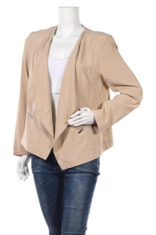 Γυναικείο σακάκι Ny Collection, Μέγεθος L, Χρώμα  Μπέζ, 95% πολυεστέρας, 5% ελαστάνη, Τιμή 5,46€