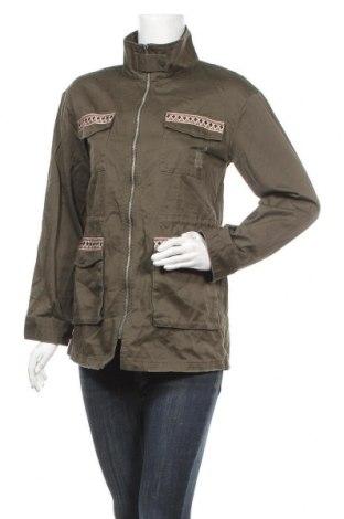 Дамско яке, Размер M, Цвят Зелен, 100% памук, Цена 11,03лв.
