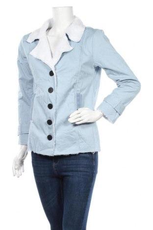 Дамско яке, Размер L, Цвят Син, 65% полиестер, 35% памук, Цена 10,05лв.