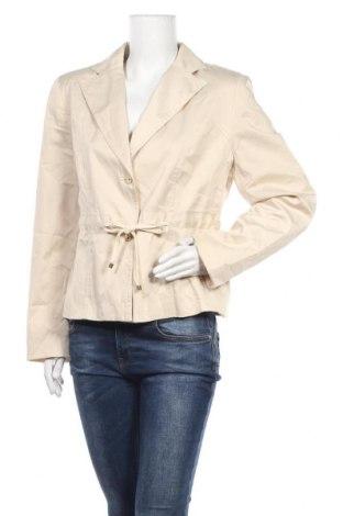Дамско яке, Размер L, Цвят Бежов, 55% памук, 40% полиамид, 5% еластан, Цена 9,83лв.
