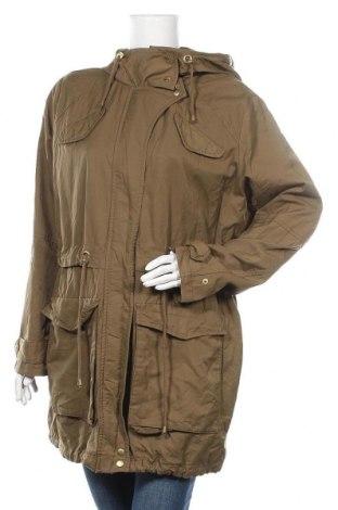 Дамско яке H&M, Размер L, Цвят Зелен, 65% памук, 35% полиамид, Цена 46,20лв.