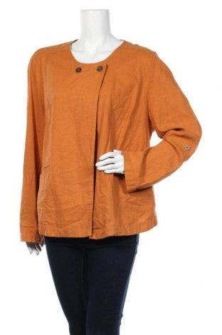 Дамско яке Laura Torelli, Размер XXL, Цвят Оранжев, 55% лен, 45% вискоза, Цена 11,76лв.